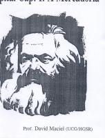 Introdução ao Estudo das Obras Filosóficas de Marx - O Capital: A Mercadoria